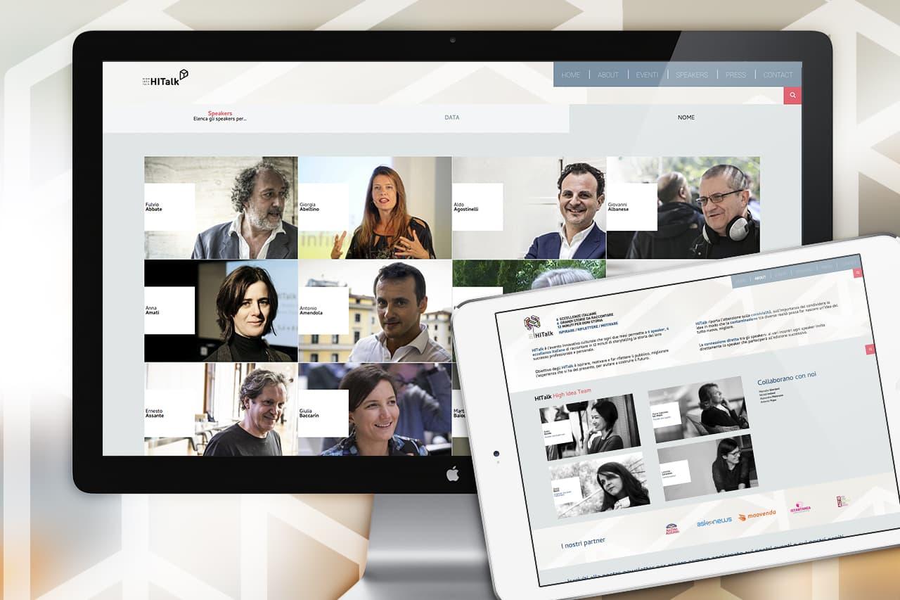 immagine per HITalk, l'ambiente web dell'evento culturale italiano dedicato allo storytelling.